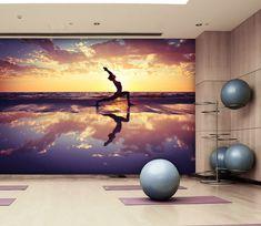3d Wallpaper Beach, Paper Wallpaper, Home Wallpaper, Textured Wallpaper, Custom Wall Murals, Wall Decals, Mural Wall, Vinyl Doors, Beach Yoga