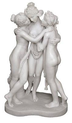 The Three Graces Greek Statue Sculpture - H: 28 Inch - Original Marble Statue By Canova King Tut's Secret - http://www.amazon.com/gp/product/B00870MINC/ref=as_li_qf_sp_asin_il_tl?ie=UTF8&camp=1789&creative=9325&creativeASIN=B00870MINC&linkCode=as2&tag=lunabellaswor-20&linkId=YBICBBRJBRUWDU7I