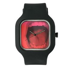 ShoutTheHour Watch, a piece of design on your wirst.   #watch #design #mouth #buy #black #style #minimal