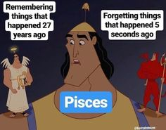 26 Funny Pisces Memes Too Real That It Hurts - Our Mindful Life Pisces Love, Pisces Quotes, Pisces Woman, Zodiac Signs Astrology, Zodiac Signs Horoscope, Zodiac Memes, Zodiac Star Signs, Libra, Pisces Humor