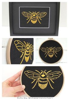 Bumblebee embroidery kit Modern hand embroidery par iHeartStitchArt