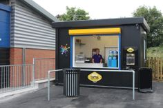 """This colourful Food Cube was installed at Beaufort Academy to support their """"stay on site"""" policy at lunchtimes - it's been a huge success! Cubes, Outdoor Decor, Success, Color, Home Decor, Style, Swag, Decoration Home, Room Decor"""