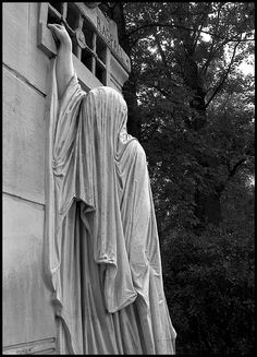 Raspail's Tomb in Pere Lachaise Cemetery; I saw this in real life; it is haunting and beautiful; just up my alley.