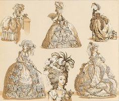 baroque, drawing, france, french, hat, hats