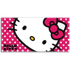 44bbda5d7052 Northwest Co. Hello Kitty Beach Towel ($28) ❤ liked on Polyvore featuring  home