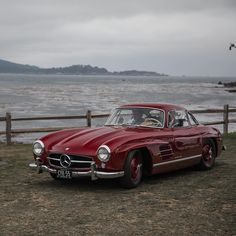 Stunning red Mercedes Benz #300SL #Gullwing during 2017 Pebble Beach Concours D'Elegance. Pic via instagram) Mercedes Benz 300, Pebble Beach Concours, Concours D Elegance, Saudi Arabia, Luxury Cars, Bmw, Instagram, Fancy Cars