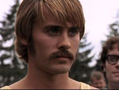 Jared Leto as Steve Prefontaine in Prefontaine (1997). - Oh, that mustache...