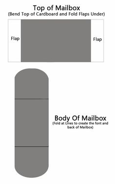 valentines day cardboard mailbox diy for this project i used a basic mailbox template i created up an example below to use when making your top