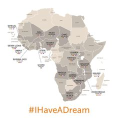 Africare has worked in 36 countries on the continent.  Have you been to any of those 36? #IHaveADream