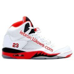 Air Jordan Retro 5 White Fire Red Black 136027-162 Jordan Shoes For Women 578399014