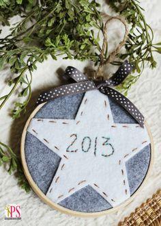 An Easy DIY Embroidery Hoop Ornament