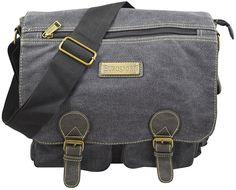 1b6279dc5313 Eurosport Unisex Canvas Messenger briefcase - Black     You can find more  details