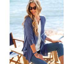 Dvojfarebný sveter s cípmi | blancheporte.sk #blancheporte #blancheporteSK #blancheporte_sk #spring #summer #wear Lingerie, Bell Bottoms, Bell Bottom Jeans, Pants, Spring Summer, Fashion, Linens, Men Wear, Woman