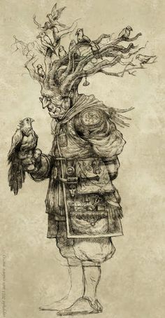 Sean Andrew Murray - Kento Vess, the Birdmancer (or Ornitholomancer) Art And Illustration, Gravure Illustration, Character Concept, Character Art, Concept Art, Drawing Sketches, Art Drawings, Pintura Graffiti, Creature Design