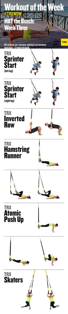 TRX Workout of the Week: Crank up the heat on your summer body with this short, sweet and sizzling-hot HIIT workout you can do anywhere! #TRXWOW #TRX