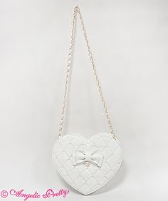 Lolibrary | Angelic Pretty - Bags - LOVE Quilted Heart Shoulder Bag (2016)