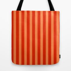 Red & Orange Stripes Tote Bag