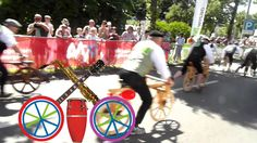 Wooden Bicycle Race Part ONE. Celebrating 200 Years Bicycle. Music Caravaan