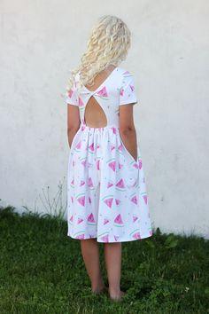 Groovybaby....and mama: Watermelon Starlight City Dress