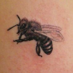 #bee #tattoo  I love the little detail there.
