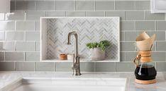 47 Ideas for bathroom blue bathtub tile White Beveled Subway Tile, White Subway Tile Bathroom, White Subway Tile Backsplash, Glass Subway Tile, Backsplash Ideas, Tile Ideas, Blue Bathtub, Bathtub Tile, Bathroom Tiling