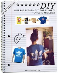 DIY vintage t-shirt treatment
