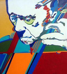 Pau Casals   acrylic  on canvas