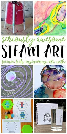 7 STEAM Art Activities your kids will love - All the fun of science, technology, engineering, and math integrated with awesome ART! - at B-Inspired Mama kids learning stem steam arted art kidsart science education arteducation 546202261058200604 Stem Science, Science For Kids, Easy Science, Science Space, Steam Activities, Science Activities, Science Experiments, Preschool Science, Spring Activities