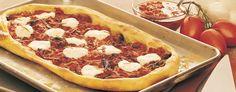 Pizza aux tomates confites