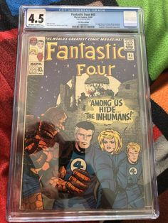 Fantastic Four 45 CGC 4.5 OWW Silver Age Marvel Comics 1st app Inhumans Dec 1965 Marvel Comics, Marvel Universe Characters, Comic Books For Sale, Fantastic Four, Silver Age, The World's Greatest, Thor, Spiderman, App