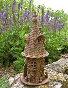 Jolly the Gnome Home by ClaySoul on Etsy