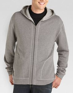 Pronto Blue Reversible Hoody, Gray