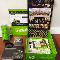 http://yolie1220.myitworks.com/ $99 gets you:   -4 body wraps (sell to make $100!)   -4 mini Defining Gels   -1 roll Fab Wrap   -Product Catalogs   -Business Card Coupons   -2 Party Presentation Pads   -an It Works! bracelet   -Steps to Sucess Training