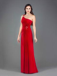 Φόρεμα μακρύ ζέρσεϊ με ένα ώμο και κέντημα Βραδινά Φορέματα e3c6eaafcfe