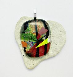 Dichroic Fused Glass Pendant by Chris1 on Etsy, $32.00