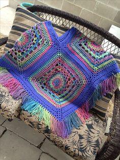 Crochet poncho I made for a friend.