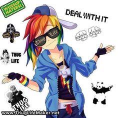 Anime Rainbow Dash(human) from My Little Pony