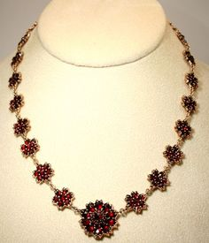Antique Victorian Gold Bohemian Garnet Necklace. quite similar to the antique my hunibuni got me
