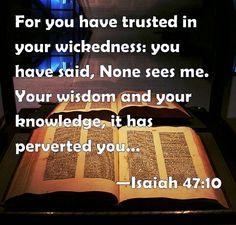 Isaiah 47:10