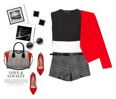 """Charming red..."" by gul07 ❤ liked on Polyvore featuring Narciso Rodriguez, MANGO, Kurt Geiger, Givenchy and Yvel"