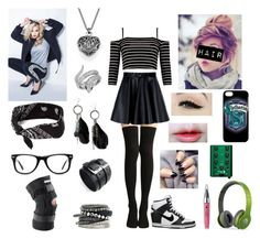 """""""Leila, back from Florida- Open RP"""" by kitrosekate ❤ liked on Polyvore featuring Topshop, MSGM, NIKE, Anatomy Of, MANGO, Effy Jewelry, H&M, Beats by Dr. Dre, claire's and Muse"""