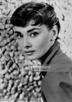 Actress Audrey Hepburn poses for a publicity still circa 1957.
