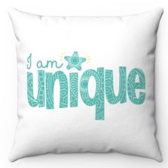 I Am Unique, Soft Pillows, Designer Throw Pillows, Throw Pillow Covers, Pillow Inserts, Screen Printing, Prints, Usa, Products