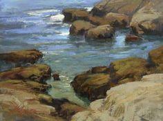 Carmel Coast  Pastel on On Archival Paper  9 x 12