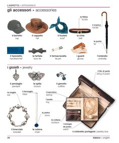 Learning Italians - Accessories & Jewelry
