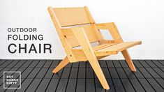 Small Folding Chair, Outdoor Folding Chairs, Wood Folding Chair, Folding Camping Chairs, Woodworking School, Woodworking Workshop, Diy Woodworking, Diy Camping, Diy Chair