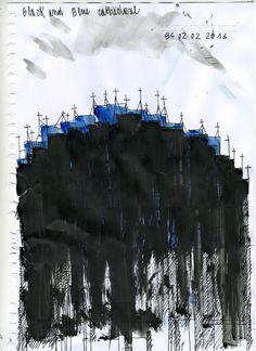 Beniamino Servino. Black and Blue Cathedral.