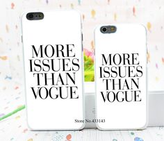 Brand New More Issues than Vogue Poster Style Hard White Cover Skin Back Case for iPhone 6 6s 6 plus-in Phone Bags & Cases from Phones & Telecommunications on Aliexpress.com | Alibaba Group