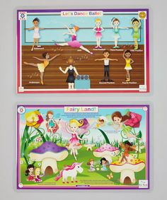 Take a look at this Ballet & Fairy Land Activity Place Mat Set by Tot Talk on #zulily today!9