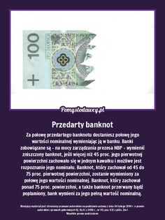 Jeśli przedarł Ci się banknot - zapamiętaj. The More You Know, Did You Know, Project Life, Self Improvement, Trivia, Everything, Fun Facts, Life Hacks, Advice